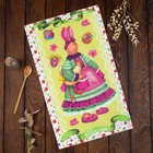 "Towel ""Share"" the Easter Bunny 35х60±2 cm, 100% cotton, Gunny 162г/m2"