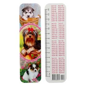 Закладка 'Собаки' глиттер, щенки, 45х166 мм Ош