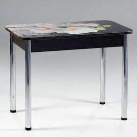 Стол прямоуголный с фотопечатью Орхидея белая 1000х600х777 столешница стеклянная