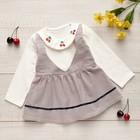 Платье для девочки MINAKU «Вишенки», вид 1, рост 92-98 см, цвет серый/белый