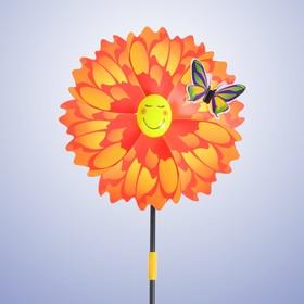 Ветерок «Цветок», с бабочкой, цвета МИКС