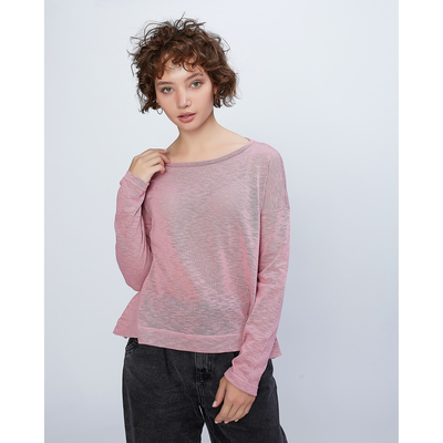 """Джемпер свободный с длинными рукавами женский MINAKU """"Спорт"""", размер 46, цвет розовый"""