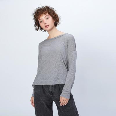 """Джемпер свободный с длинными рукавами женский MINAKU """"Спорт"""", размер 54, цвет серый"""