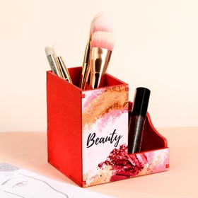 Set diary of a makeup artist + organizer for brushes beauty