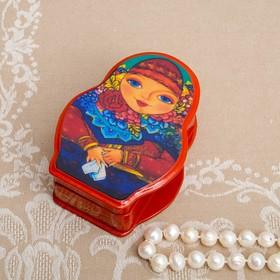 Шкатулка «Матрёшка», 11×8 см, лаковая миниатюра