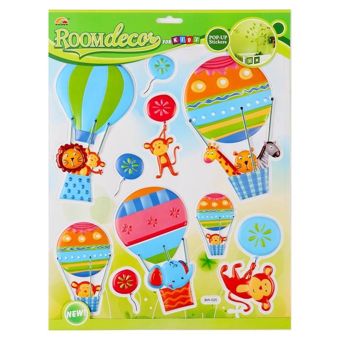 """Наклейка объемная """"Воздушные шары"""" пластик, 30 х 34 см"""