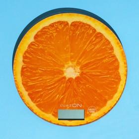 """Весы кухонные LuazON LVK-701, электронные, до 7 кг, рисунок """"Апельсин"""""""