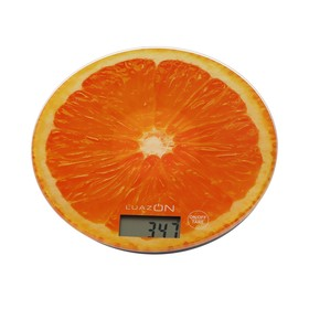 Весы кухонные LuazON LVK-701, электронные, до 7 кг, рисунок 'Апельсин' Ош