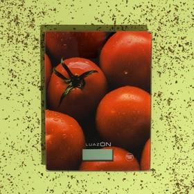Весы кухонные LuazON LVK-702, электронные, до 7 кг, рисунок 'Томаты' Ош