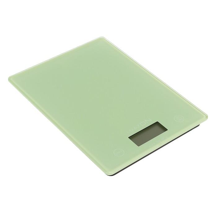 Весы электронные кухонные LuazON LVK-507 до 5 кг, стекло, бирюзовые