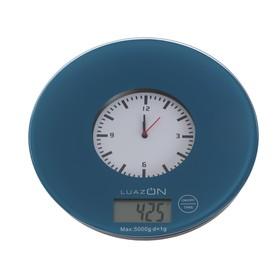 {{photo.Alt || photo.Description || 'Весы кухонные LuazON LVK-508, электронные, до 5 кг, встроенные часы, тёмно-синие'}}