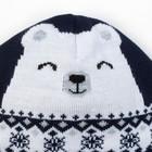 """Шапка вязаная Крошка Я """"Мишка со снежинкой"""", синий, р. 44 - фото 105570220"""