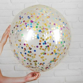 "Latex balloon 36"" ""Confetti MIX"", foil, 1 PCs, color: transparent"