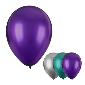 "Balloon latex 12"" ""Chrome"", metal, set of 4 PCs, MIX"