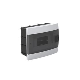 Бокс для автоматов пластиковый встраиваемый 600-000-801, 8 модулей, цвет белый