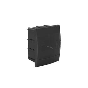 Бокс для автоматов пластиковый встраиваемый 600-001-401, 4 модуля, цвет черный