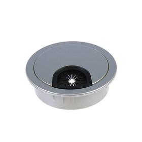 Заглушка кабель канала Z01, D=60 мм, пластиковая, цвет матовый хром Ош