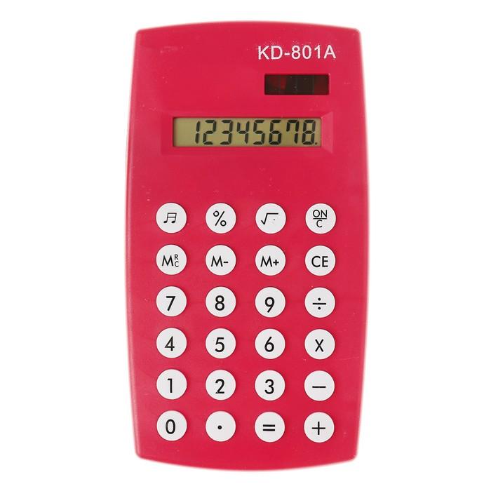 Калькулятор настольный, 8-разрядный, двойное питание, МИКС - фото 450117256