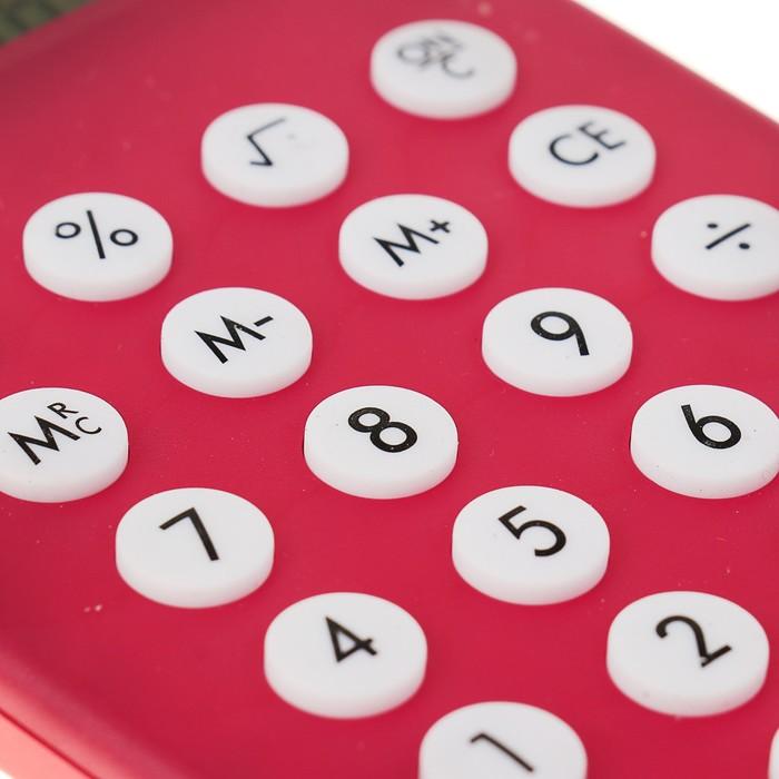 Калькулятор настольный, 8-разрядный, двойное питание, МИКС - фото 450117258