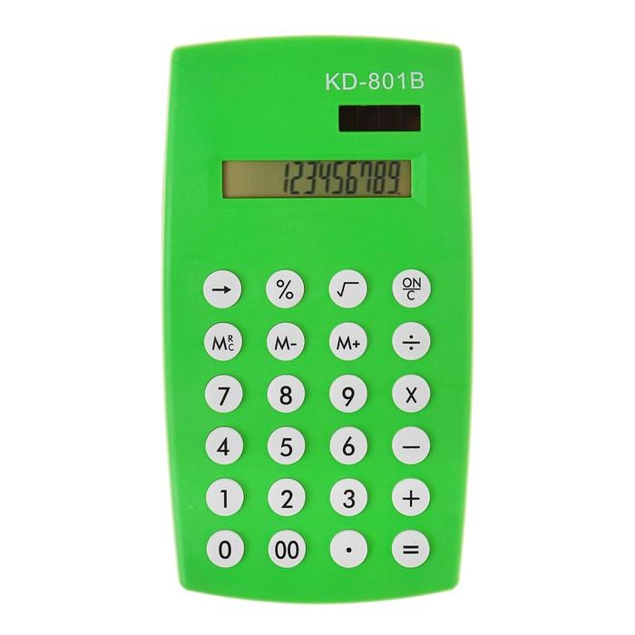 Калькулятор настольный, 12-разрядный, двойное питание, МИКС - фото 448832947