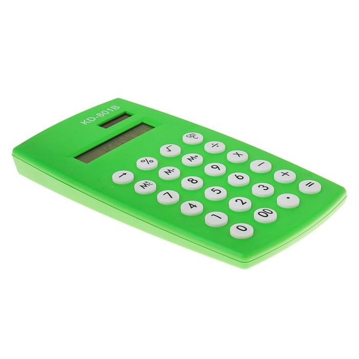 Калькулятор настольный, 12-разрядный, двойное питание, МИКС - фото 448832948