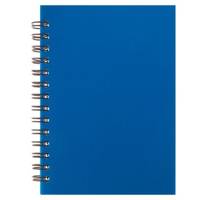 Notebook, plastic cover A6, 80 sheets on the crest of the Blue