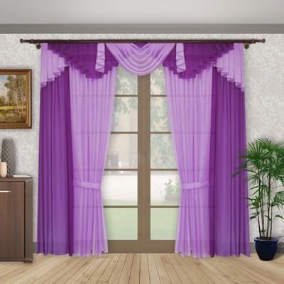 Шторы «Карамельная фантазия», 150 × 250 см-4 шт, ламбрекен 70х320 см, S8