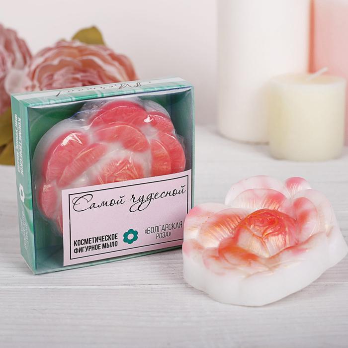 """Фигурное мыло в подарочной коробке """"Счастья"""" болгарская роза"""