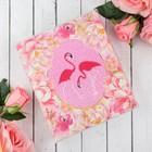 """Полотенце махровое """"Фламинго"""" 30х60 см, хлопок, 340 гр/м2"""