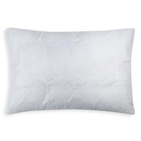 Подушка Роза  50х70 см цв. белый, полиэфирное волокно, пэ 100%