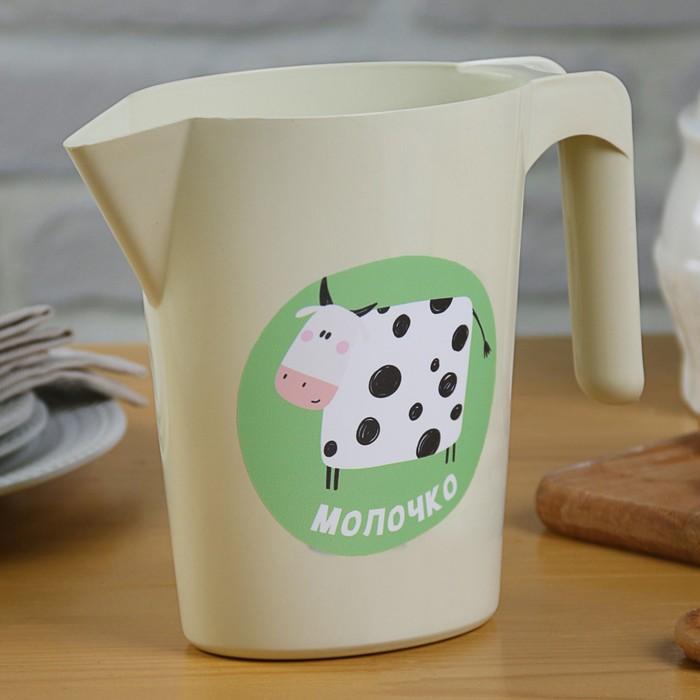 "Кувшин-подставка для молочного пакета ""Смешная коровка"", 1 л"