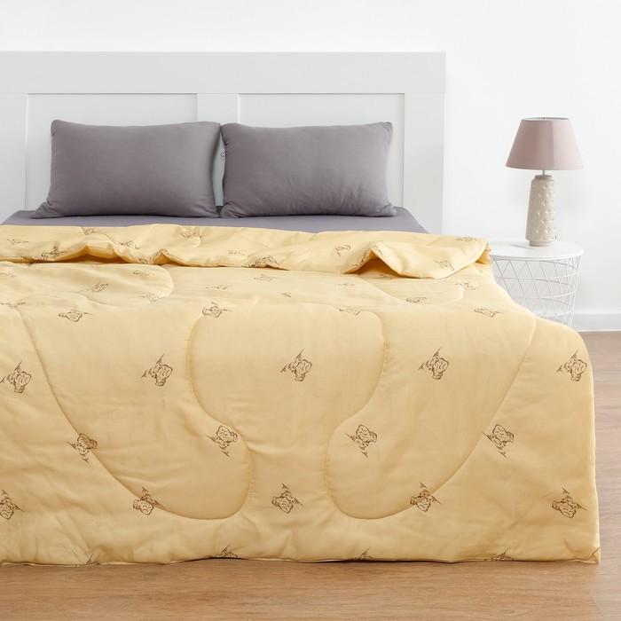 Одеяло Овечья шерсть 140x205 см, полиэфирное волокно 200 гр/м, пэ 100% - фото 76621737