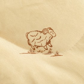Одеяло Овечья шерсть 172x205 см, полиэфирное волокно 200 гр/м, пэ 100% - фото 62309