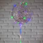 """Шар полимерный 20"""" светящийся, со светодиодной лентой, конфетти-круг, цвет красный - фото 148327114"""