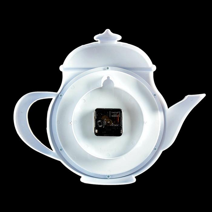"""Часы настенные, серия: Кухня, """"Чайник"""" d=31×30×5 см, дискретный ход"""