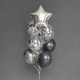 Фонтан из шаров «На стиле», латекс, фольга, 10 шт.