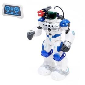 Робот радиоуправляемый, интерактивный «Полицейский», световые эффекты, русское озвучивание, стреляет, работает от аккумулятора
