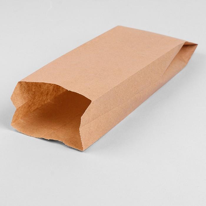 Пакет бумажный фасовочный, крафт, V-образное дно 35 х 20 х 9 см, набор 900 шт.