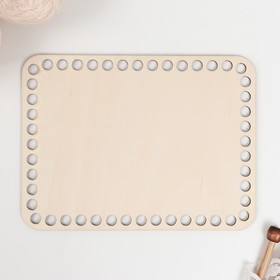 "Blank knitting ""Rectangle with rounded corner"" plywood 3mm 20*15 cm"
