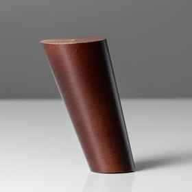 Ножка мебельная 'Цилиндр',наклон 30°, цвет темный орех, D-50x30 мм, H-120 мм Ош