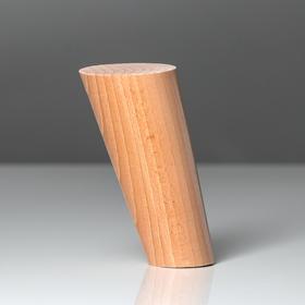 Ножка мебельная 'Цилиндр',наклон 30°, цвет бук, D-50x30 мм, H-120 мм Ош