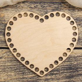"Blank crochet ""Heart"" plywood 3mm 15cm"