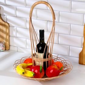 Корзина для шампанского и фруктов, 29×50 см, ива