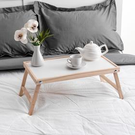 """{{photo.Alt    photo.Description    'Столик для завтрака """"Ренессанс"""", 50 х 30 см, массив ясеня, цвет некрашеный'}}"""