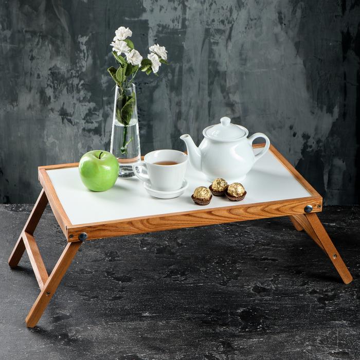 "Столик для завтрака ""Ренессанс"", 50 х 30 см, цвет бук, массив ясеня"