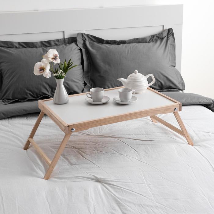 """Столик для завтрака """"Ренессанс"""", 60 х 40 см, массив ясеня, цвет некрашеный"""