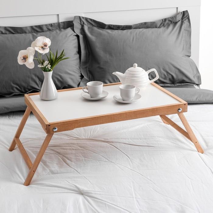 "Столик для завтрака ""Ренессанс"", 60 х 40 см, массив ясеня, цвет бук"
