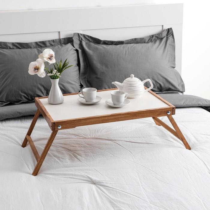 """Столик для завтрака """"Ренессанс"""", 60 х 40 см, массив ясеня, цвет итальянский оре х"""