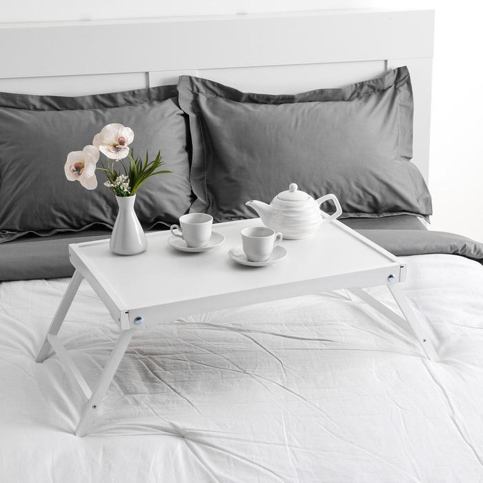 """Столик для завтрака """"Ренессанс"""", 60 х 40 см, массив ясеня , цвет белый"""