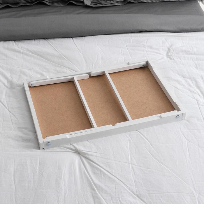 """Столик для завтрака """"Ренессанс"""", 60х40 см, массив ясеня , цвет белый"""
